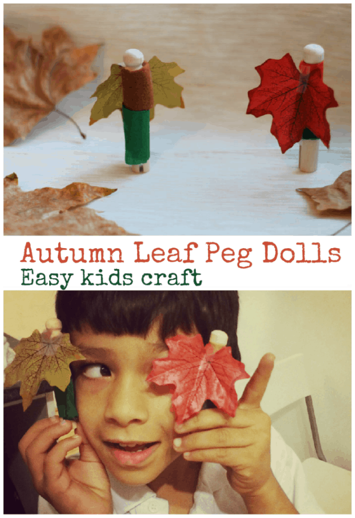 autumn leaf peg dolls
