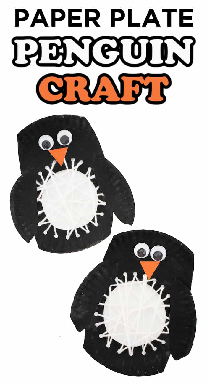 paper plate crafts for kids this winter