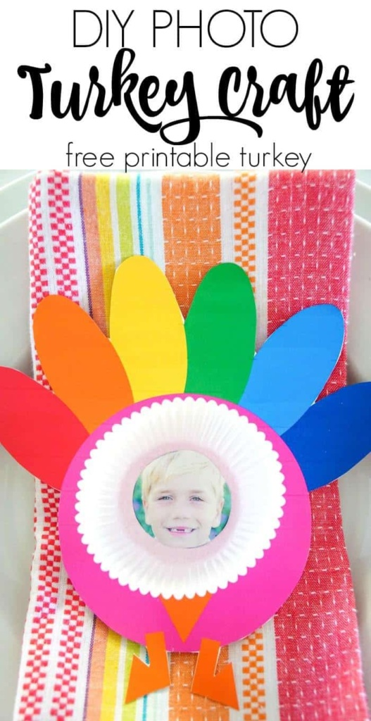 Photo Turkey Craft. Thanksgiving Kids Craft Ideas with Turkeys.