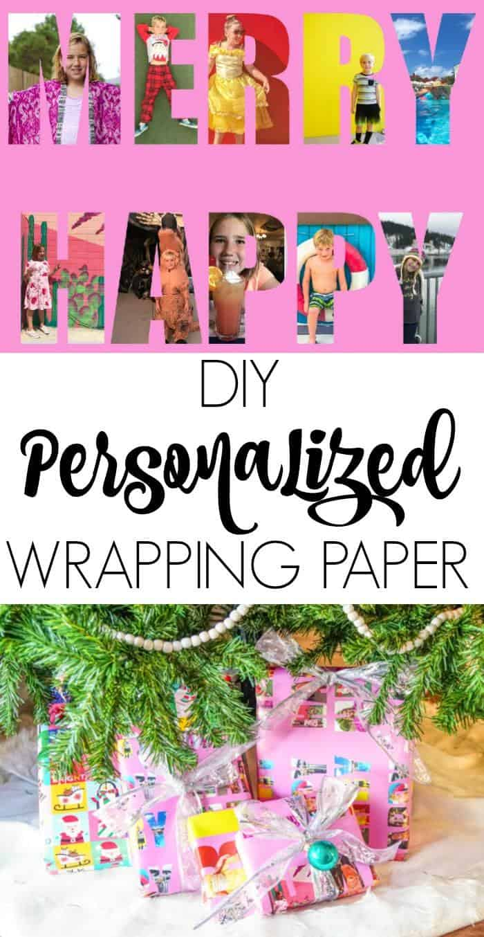 Photo Wrapping Paper.  DIY Personalized Wrapping Paper. Personalized Gift Wrapping shares memories on the outside of the gifts as well as the inside.  Photo Christmas Presents.  DIY Gift Wrap.  PHoto gifts for the holidays.