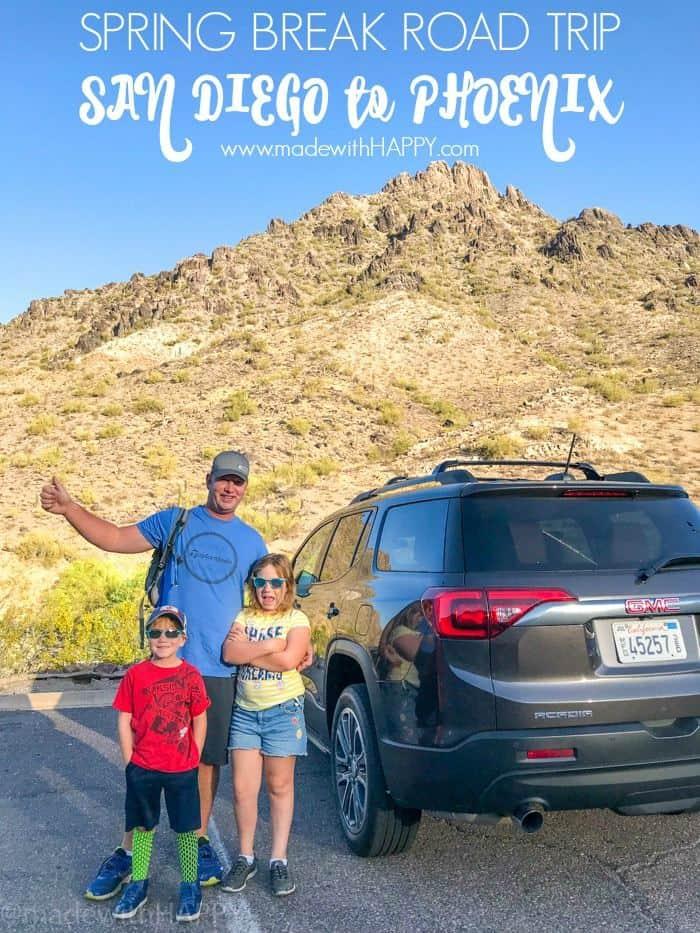 Fun things to do in Phoenix Arizona. Phoenix Arizona Attractions. Spring Break Road Trip from San Diego to Phoenix. Fun Stops from California to Arizona.