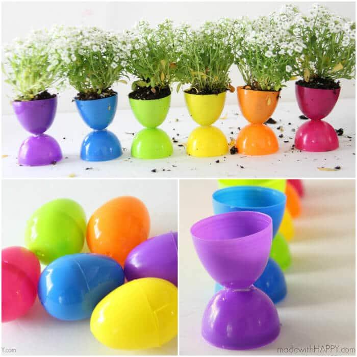 Plastic Easter Egg Planters