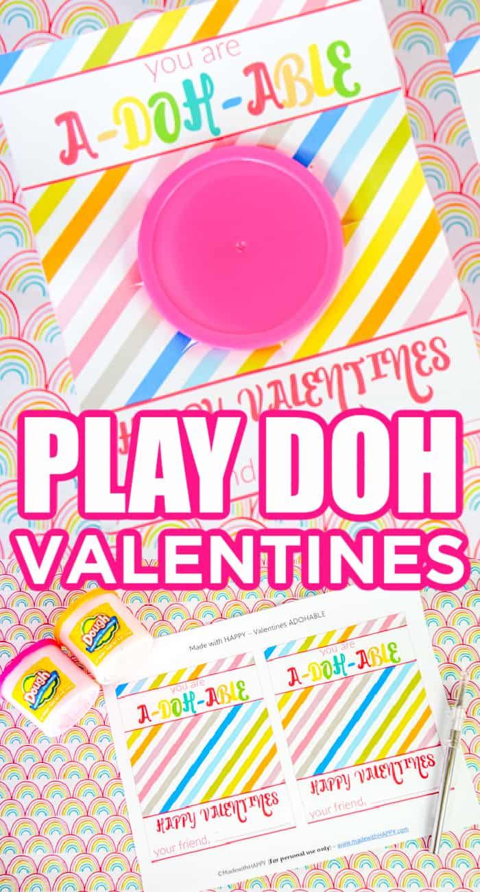 play doh valentines printables