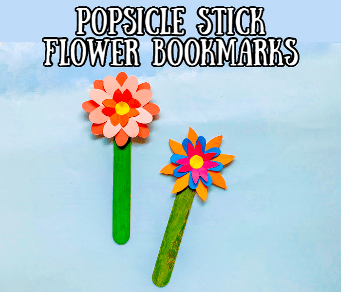 Popsicle Stick Flower Bookmark