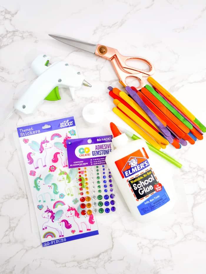 Supplies for unicorn lantern