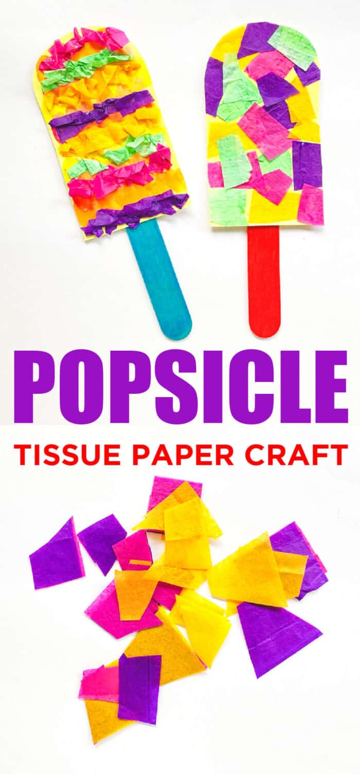 Popsicle Tissue Paper Craft For Kids