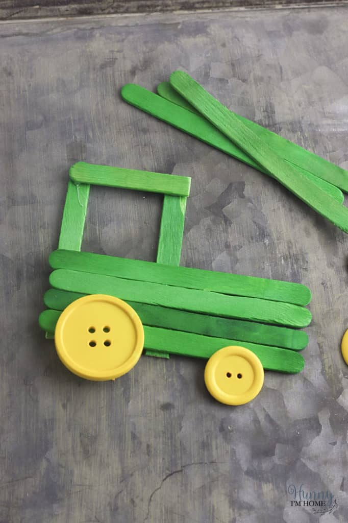 popsicle stick tractor