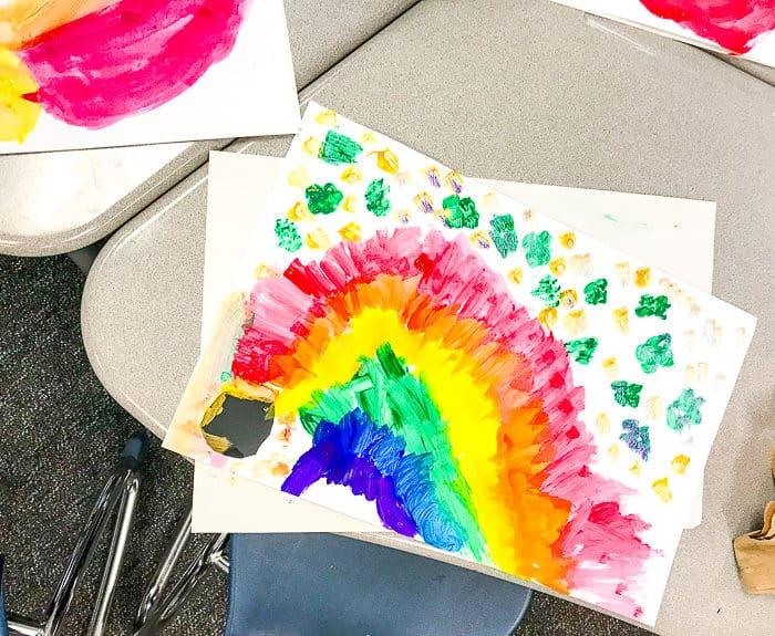 Kids St. Patrick's Rainbow Art Project