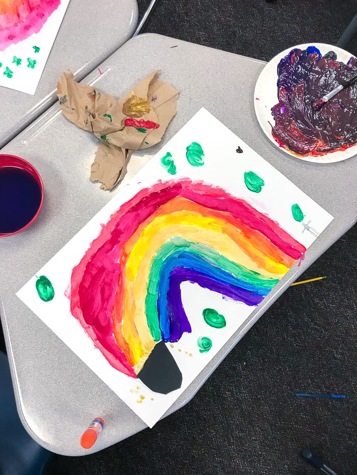 1st Grade St. Patricks Day Art. St. Patrick's Day Rainbow Art Project. Looking for St. Patricks Day Art for 1st Graders, then we have the perfect project.
