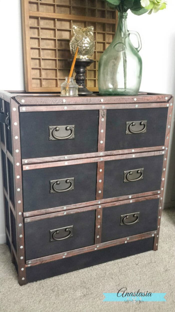 Pottery Barn Ludlow Trunk Inspired IKEA Rast Hack Anastasia Vintage LS