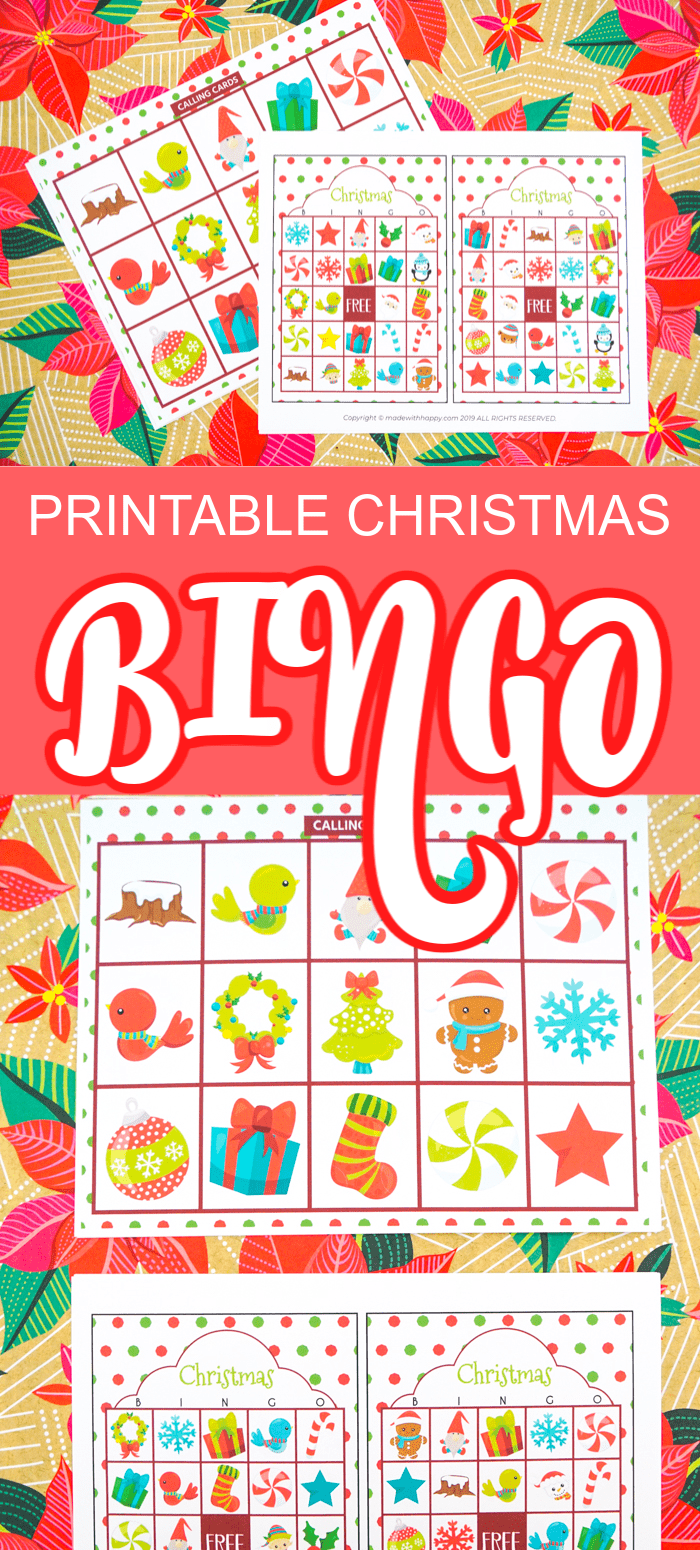 Christmas Bingo Vertical