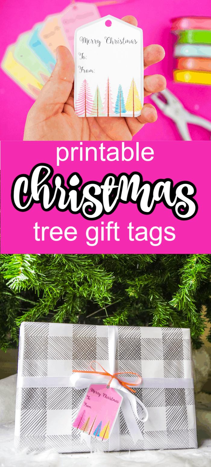 Printable Gift Tags with Trees