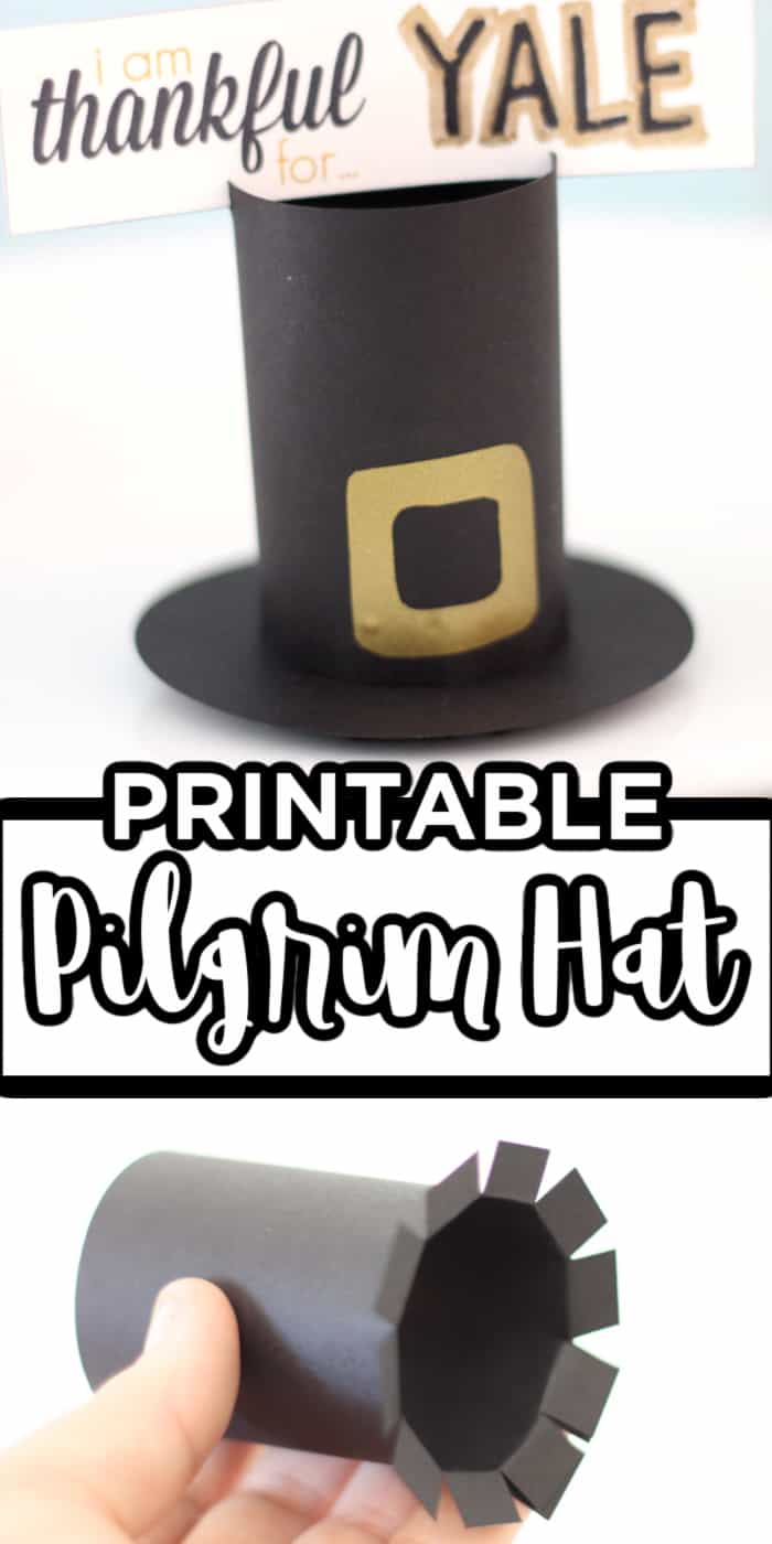 Printable Pilgrim Hat