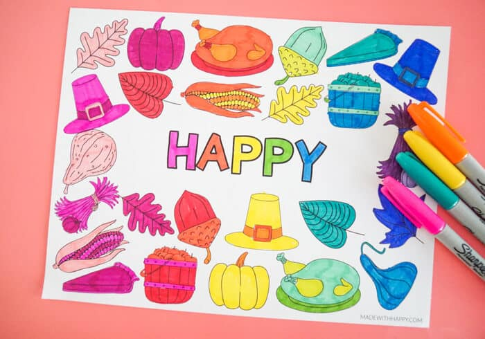 Rainbow Colored Placemat