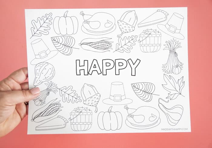 Happy Printable Placemat