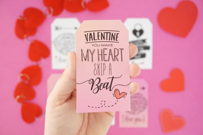 Valentine You Make My Heart Skip A Beat Valentines Tag