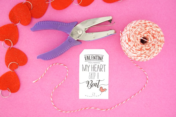 Hole Punch Valentines Gift Tags