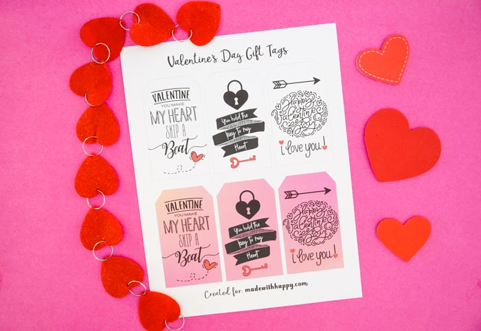 Free Printable Tags for Valentines