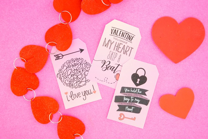 Cute Printable Valentines Day Tags
