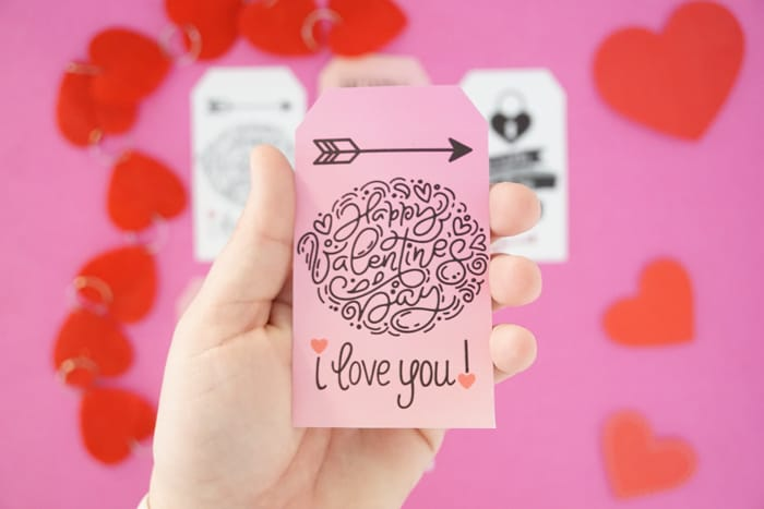 I love you Valentines Day Gift Tags