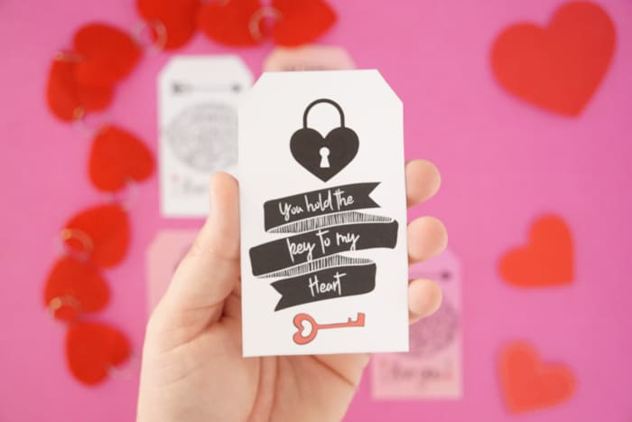 You hold the key to my heart Valentines gift tag