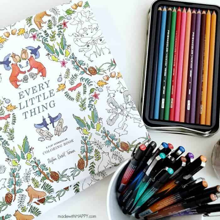 Girl's Coloring Party | Adult Coloring | Colored Pencils | Adult coloring with Prismacolor is a huge trend right now and the perfect outlet for moms to relax, de-stress and re-energize during the often-stressful holiday season | #Prismacolor4Me AD