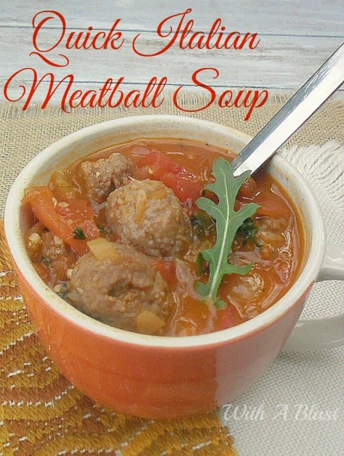 Quick Italian Meatball SoupP