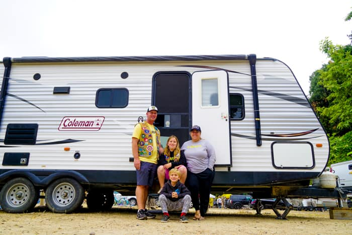 Family camping in an RV. Top 5 Reason to Renting an RV. Camping Trailer Rental in your area. When motor home rentals are better than buying an RV. RV Share in your area.