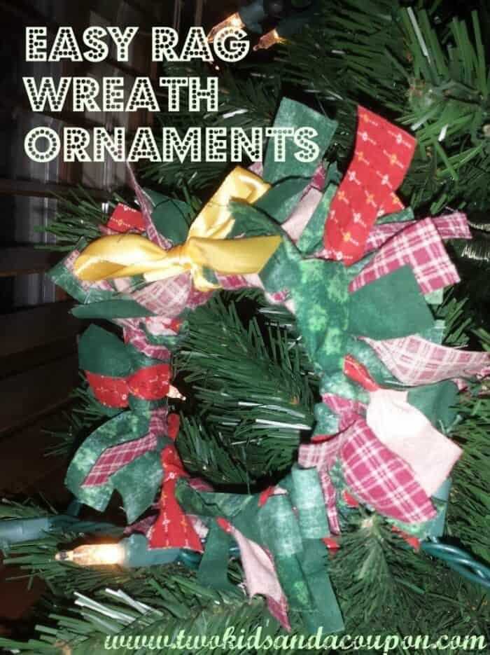 Rag Wreath Ornament