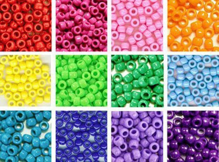 Rainbow Pony Beads | Rainbow Craft Supplies | Colorful Kids Crafts | All the craft supplies you need to keep you and your kids occupied for hours and hours. | Rainbow Popsicles, Rainbow Cupcake Wrappers, Rainbow Pom poms and more | www.madewithhappy.com