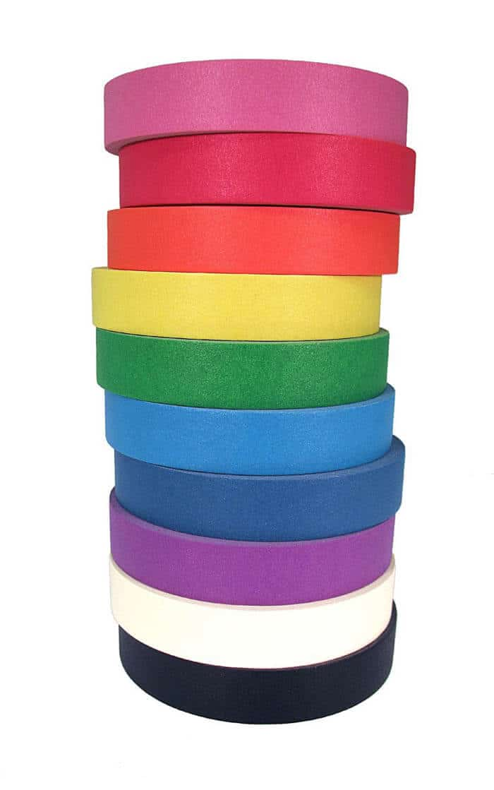 Rainbow Washi Tape | Rainbow Craft Supplies | Colorful Kids Crafts | All the craft supplies you need to keep you and your kids occupied for hours and hours. | Rainbow Popsicles, Rainbow Cupcake Wrappers, Rainbow Pom poms and more | www.madewithhappy.com
