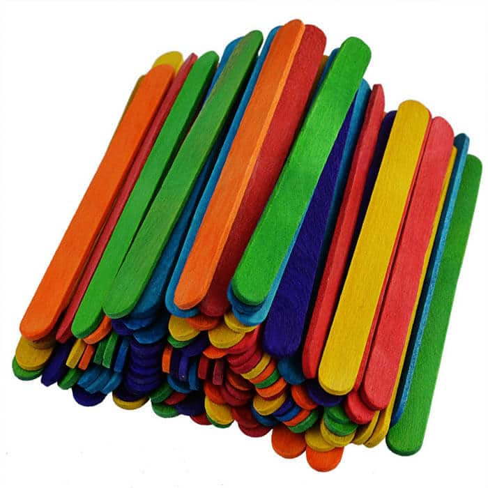Rainbow Popsicle Sticks | Rainbow Craft Supplies | Colorful Kids Crafts | All the craft supplies you need to keep you and your kids occupied for hours and hours. | Rainbow Popsicles, Rainbow Cupcake Wrappers, Rainbow Pom poms and more | www.madewithhappy.com