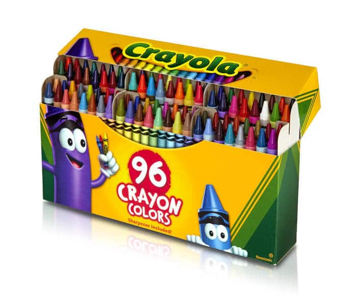 Crayons | Rainbow Craft Supplies | Colorful Kids Crafts | All the craft supplies you need to keep you and your kids occupied for hours and hours. | Rainbow Popsicles, Rainbow Cupcake Wrappers, Rainbow Pom poms and more | www.madewithhappy.com