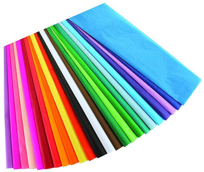 Rainbow Tissue Paper | Rainbow Craft Supplies | Colorful Kids Crafts | All the craft supplies you need to keep you and your kids occupied for hours and hours. | Rainbow Popsicles, Rainbow Cupcake Wrappers, Rainbow Pom poms and more | www.madewithhappy.com