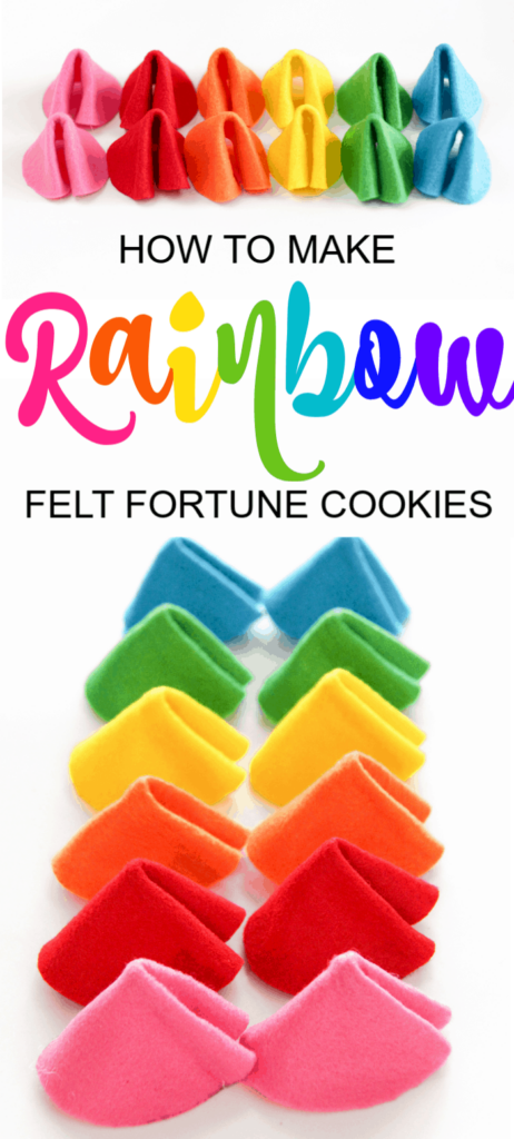 Rainbow Fortune Cookies Craft