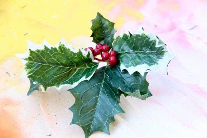 Rainbow Holly Wreath | Rainbow Wreaths | Christmas gone rainbow | Bright colorful Christmas | DIY Christmas Wreath | www.madewithhappy.com