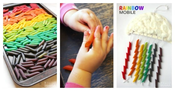Rainbow Mobile Craft for Kids
