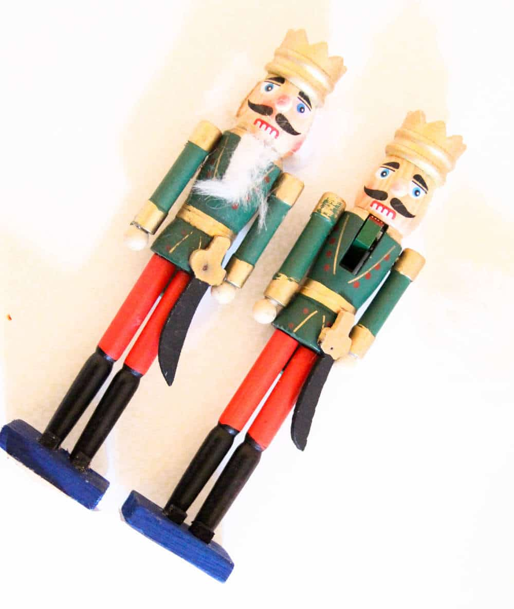 Removing the hair from dollar store nutcracker