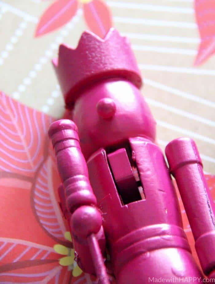Rainbow Nutcrackers | Spray Painted Nutcrackers | Rainbow Christmas Decorations | Spray Painted Christmas Decorations | www.madewithhappy.com