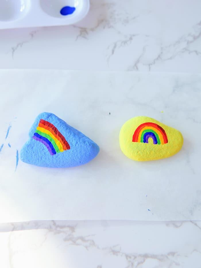 Rainbows on rocks