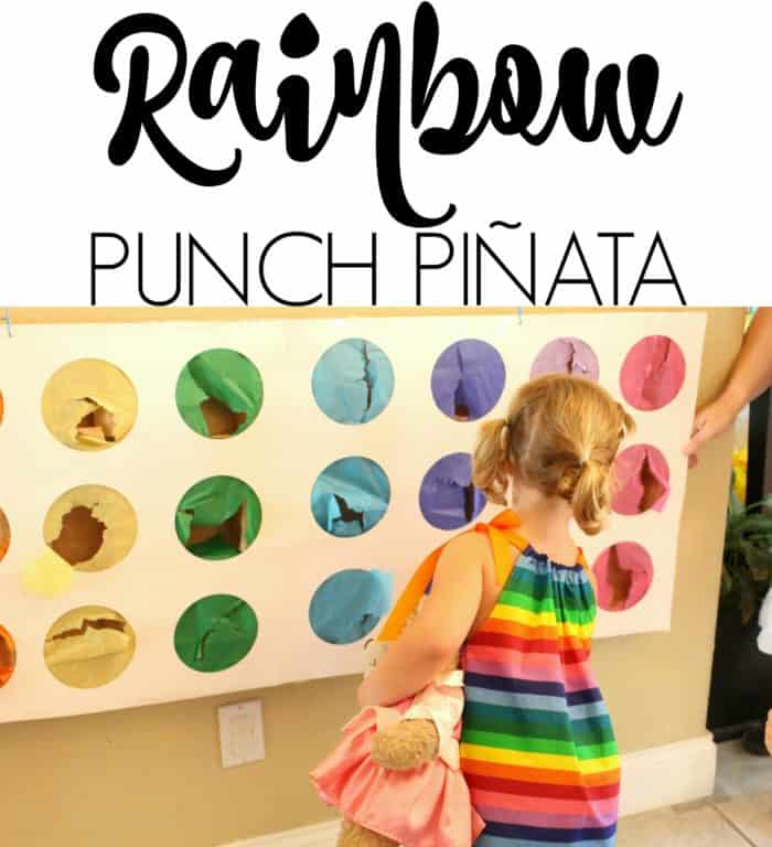 Rainbow Punch Pinata - Made with HAPPY