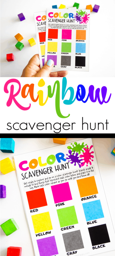Rainbow Scavenger Hunt for Kids