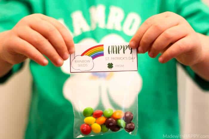 St. Patrick's Day Rainbow Seeds Printble