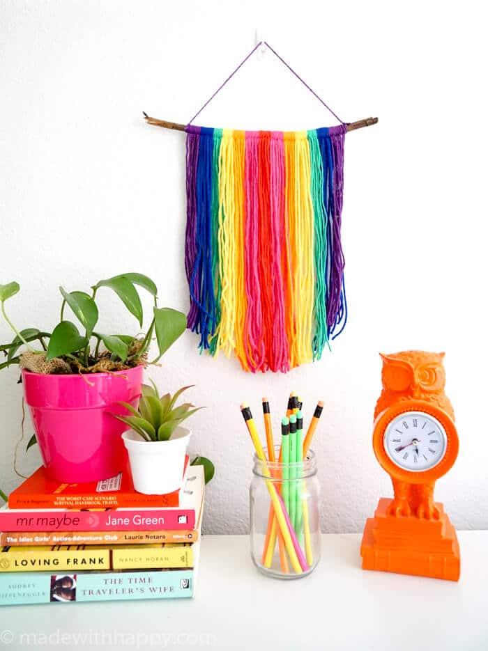 Rainbow Yarn Wall Hang