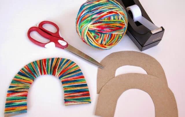 Rainbow Yarn Wrapping