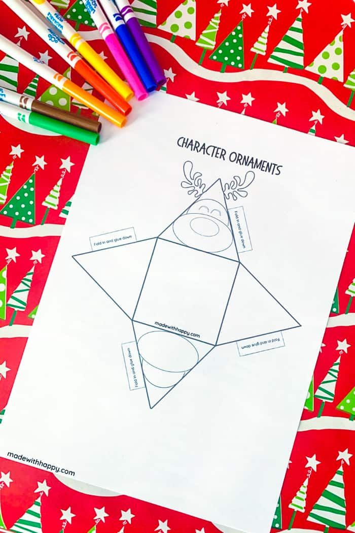 printable reindeer ornament template