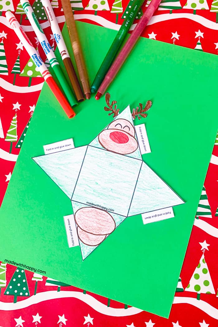 Color in the printable ornament