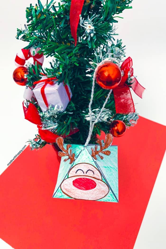 Printable Christmas Ornament Reindeer