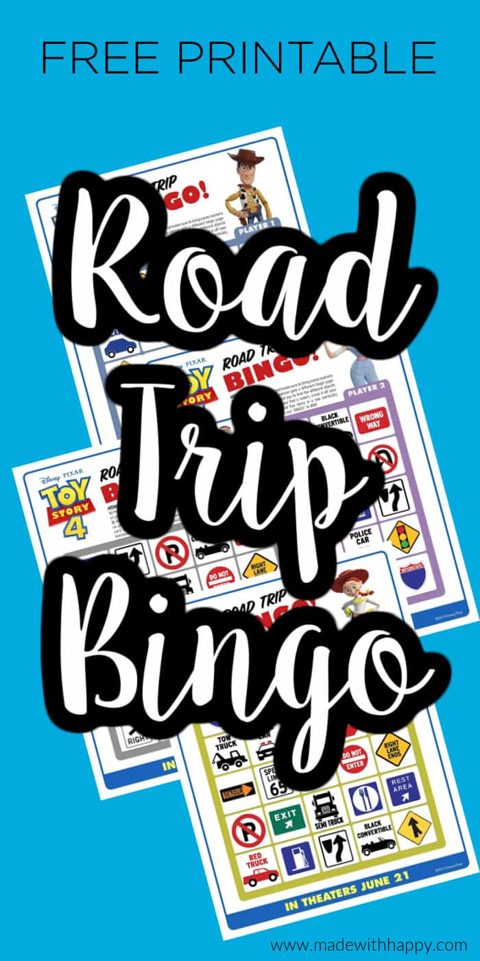 printable cards for road trip bingo