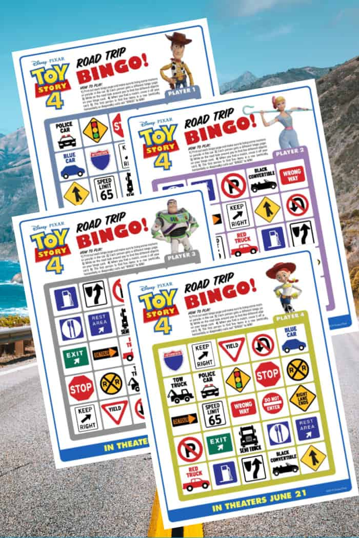 Printable Road Trip Bingo Cards